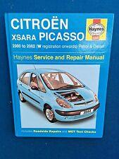 HAYNES CITROEN XSARA PICASSO WORKSHOP MANUAL PETROL & DIESEL 2000 - 2002 EX COND