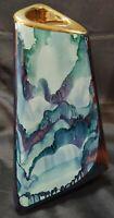 "Vtg Ceramic Studio Art Pottery Signed Centerpiece Vase Vessel Retro MCM 12"" Tri"