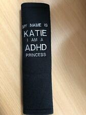 Kids Seat Belt / Pram Pad Personalised Name/disability/allergy /adhd Princess