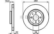 1x BOSCH Disco de freno delantero Ventilado 284mm Para FIAT DOBLO 0 986 479 B49