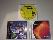 Dreamcast lot - Virtua tennis, web browser, NBA 2K1.