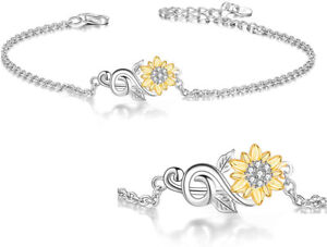 Fashion Exquisite Gold Small Flower Silver Bracelet Wedding Jewelry Party Gift