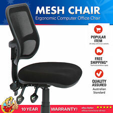 Office Chair, Adjustable Ergonomic Chairs, Computer Desk Typist, Gas lift, Black