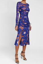 Diane Von Furstenberg Canton Mesh Floral Print Dress Worn By Tyra Banks UK14