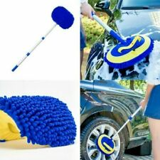 Car Brush Cleaning Mop Telescoping Long Handle Chenille Broom Adjustable