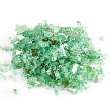 10-Pound ¼-inch Seafoam Green Reflective Fire Glass for Fire Pit