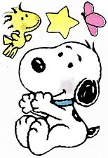 """2.5"""" BABY SNOOPY WOODSTOCK BUTTERFLY PREPASTED WALLPAPER BORDER CUT OUT"""