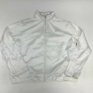 Polo Ralph Lauren Zip Up Golf Jacket Men's Large Long Sleeve White Mock Neck