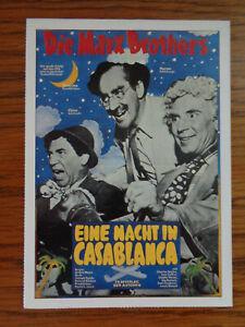 Filmplakatkarte / moviepostercard  Eine Nacht in Casablanca  Marx Brothers