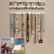 9PCS Adhesive Jewelry Hanger Earring Necklace Organizer Holder Rack Wall Mount