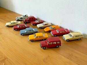Vintage Wiking Germany HO 1/87 Gauge Models Mercedes Cars x12