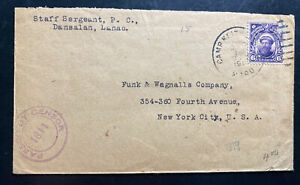 1918 Camp Keith Moro Puerto Rico Censored Cover To New York USA