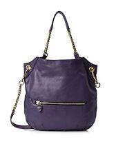 NWT Oryany Selina Shoulder Bag Eggplant Leather W/Golden Hardware & Zip Pocket
