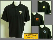 New Sz S-5Xl Black Solid Nhl Mens Cotton #77U Golf Polo Shirt