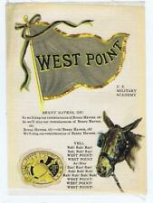 West Point College Flag Seal Song Yell S23 cigarette silk donkey 246
