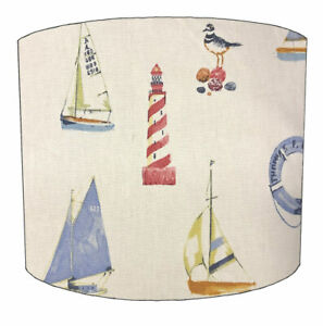 Nautical Lampshades, Ideal To Match Nautical Cushion Covers & Nautical Wallpaper