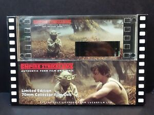 RARE Star Wars Empire Strikes Back - Jedi Master Yoda Edition 70mm Film Cels