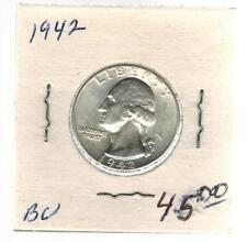 1942 USA Washington Quarter 25 cent coin BU