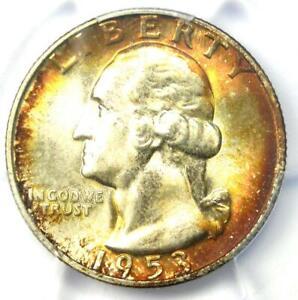 1953-S Washington Quarter 25C - Certified PCGS MS67+ CAC Plus Grade - $850 Value