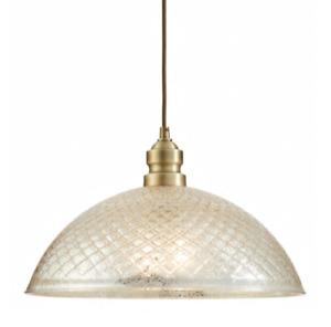 Allen Roth Lynlore Old Brass Vintage Mercury Glass Dome Pendant Ceiling Light