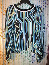 So striking  BISOU BISOU bold colored top,size XL nwt