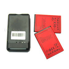 2x 2250mAh battery+Wall Charger 4 HTC DROID Incredible 4G LTE ADR6410L Android