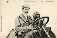 AUTOMOBILE Fitz Shepeard sur voiture Hotchkiss circuit de la Sarthe ? gros plan