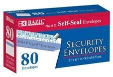 #6 - 3/4 Peel and Seal Security Envelope Self-Adhesive Strip 80 Per Pack