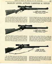 1967 Print Ad of Marlin Model 336-C 336-T Carbine & 444 Lever Action Rifle