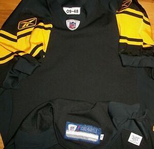 2009 Pittsburgh Steelers Blank Team Issue Authentic Game Jersey Sz 48 Rbk TBTC