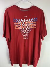Mens Nike Dri Fit Elite Basketball Tshirt Size XL Red USA Color Basket