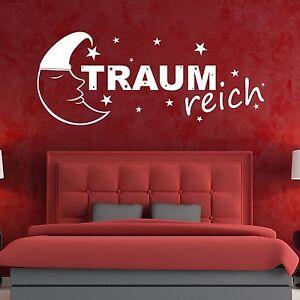 XXL Traumreich Wandtattoo 281x115cm Aufkleber Tattoo Schlaf Traum Zimmer Wand