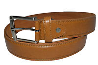 "BELT MENS BIG AND TALL JEANS NEW TAN LEATHER SIZE 46"" - 56"" GREAT GIFT IDEA"