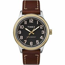 Timex TW2R22900, Men's Easy Reader Brown Leather Watch, New England