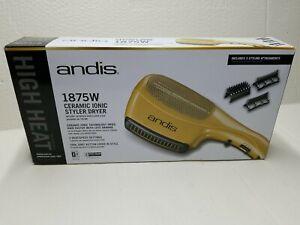 Andis Ceramic Ionic Styler 1875-Watt Hair Dryer, Yellow