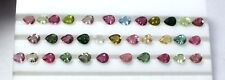 50 Piece Natural Multi Tourmaline Loose Gemstone 5X4mm Pear Faceted Cut Lot S913