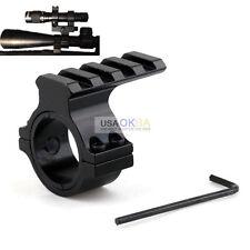 Barrel Mount 30mm 1'' Ring Scope Picatinny Rail Adapter For 12 Gauge Shot Gun
