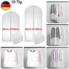 10-tlg Kleidersäcke Anzugsack Kleiderhülle Transparent Staubdicht Anzughülle Set