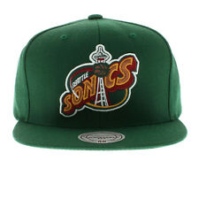 Mitchell & Ness NBA Seattle Supersonics Old School Logo Team Snapback Cap Hat