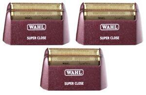 (3) Wahl Shaver/Shaper Replacement Super Close Foils Gold 5 Star Series 7031-200