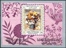 Aden Upper Yafa 1967 ** Bl. 16 Gemälde Paintings Renoir Blumen Flowers