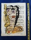 PABLO PICASSO WATERCOLOR DRAWINGS ON PAPER SIGNED