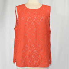 GAP Floral Lace Sleeveless Top Blouse XXL 2XL Vivid Orange