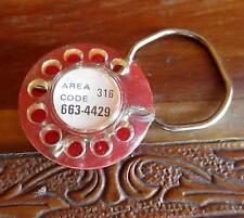 Vtg 70s Collectible Elvira'S Pizza Wichita Kansas Phone Rotary Keychain