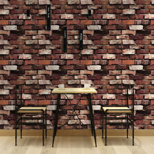 3D Faux Brick Wallpaper Peel and Stick Thicker Material Vintage Rusty/Brown