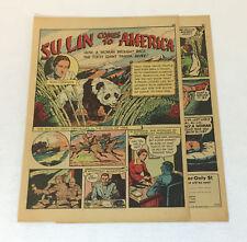 1942 four page cartoon story ~ SU LIN THE PANDA AND RUTH HARKENS