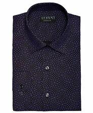 $99 Alfani 15-15.5 32/33 Mens Athletic-Fit Black Purple Long-Sleeve Dress Shirt