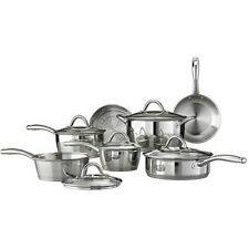 Tramontina Gourmet Stainless Steel Tri-Ply Base Cookware Set, 12 Piece NEW