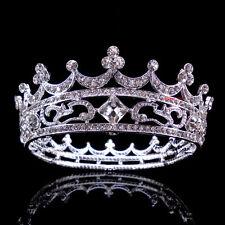 Luxus 4cm hoch Königin Hochzeit Braut Haarschmuck Haarreif Krone Diademe Tiara