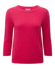 BNWT Pure Collection Cable Cashmere Sweater UK Size 10 RRP £150